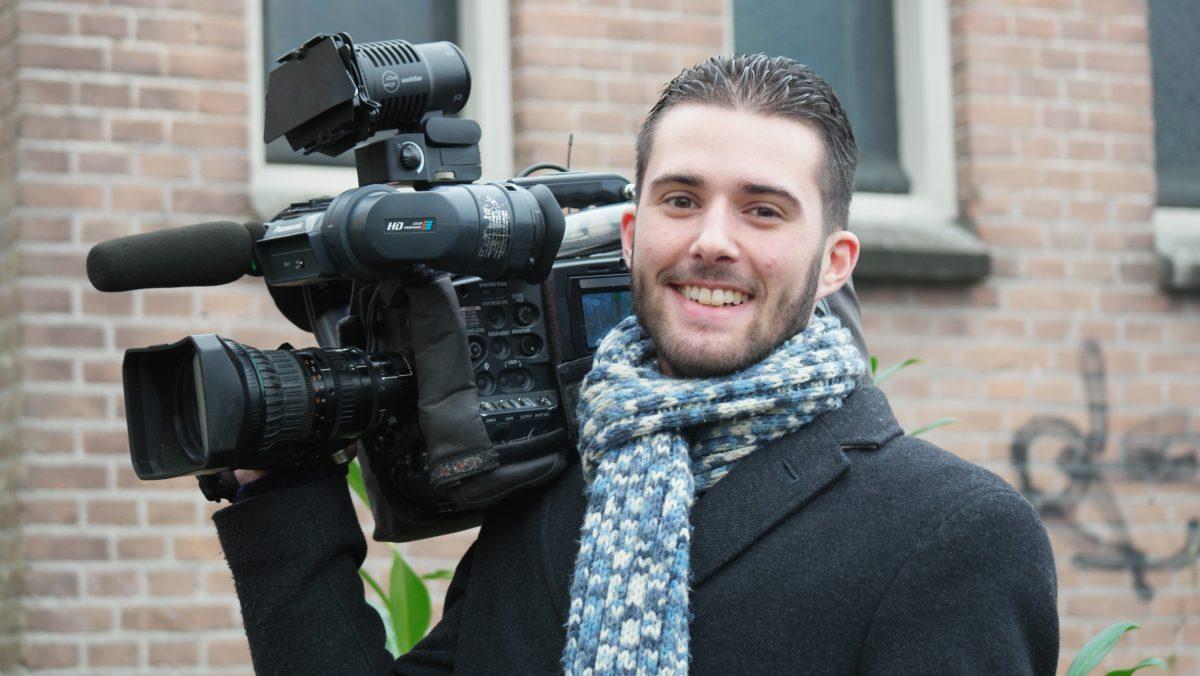Daan Berg als camerajournalist bij RTV Dordrecht